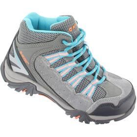 Hi-Tec Forza Mid WP Chaussures Enfant, cool grey/curacao blue/papaya punch